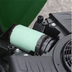 Air filter with foam precleaner