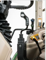 Joystick installed in cab tractor