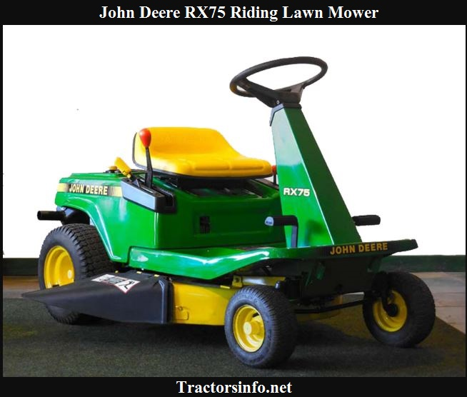 John Deere RX75 Price, Specs, Review & Attachments