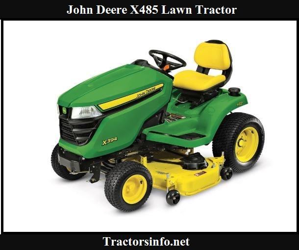 John Deere X485 Price, Specs, Review & Attachments