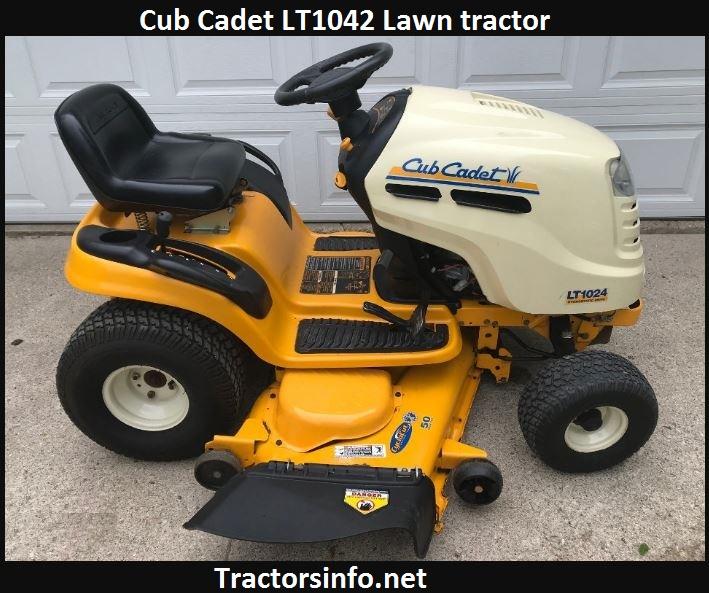 Cub Cadet LT1042 Price specs