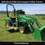 John Deere 2305 Horsepower, Price, Specs, Review & Attachments