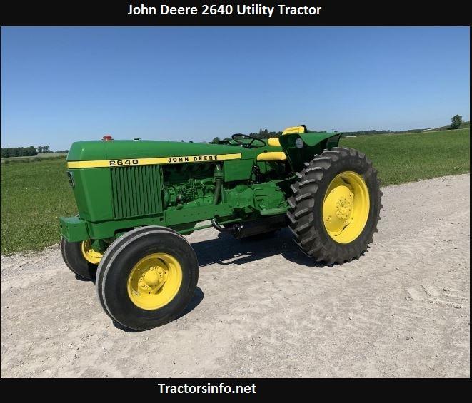 John Deere 2640 Price, Specs, Engine Oil Capacity, Reviews
