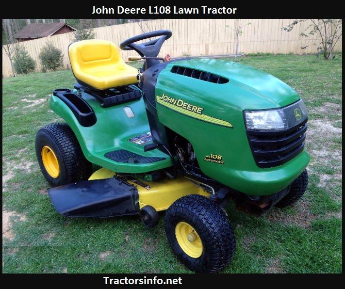 John Deere L108 Price, Specs, Oil Capacity, Attachments