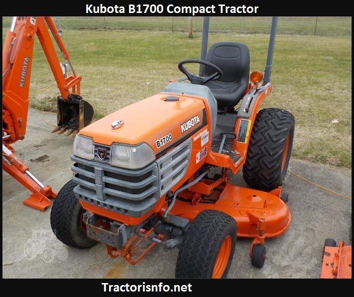 Kubota B1700 Horsepower, Price, Specs, Reviews, Attachments