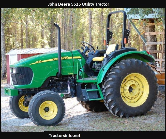 John Deere 5525 Price, Specs, Weight, Oil Capacity, Review