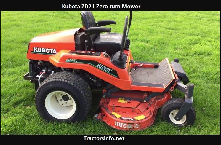 Kubota ZD21 Price, Specs, Reviews, Attachments