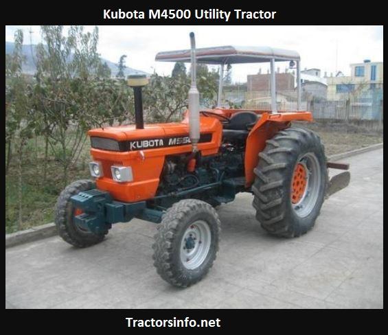 Kubota M4500 Price, Specs, Reviews, Horsepower