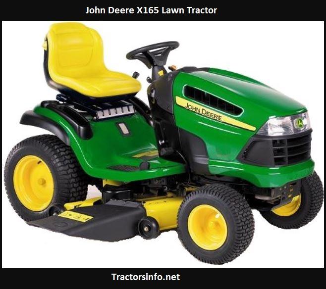 John Deere X165 Price, Specs, Review, Attachments