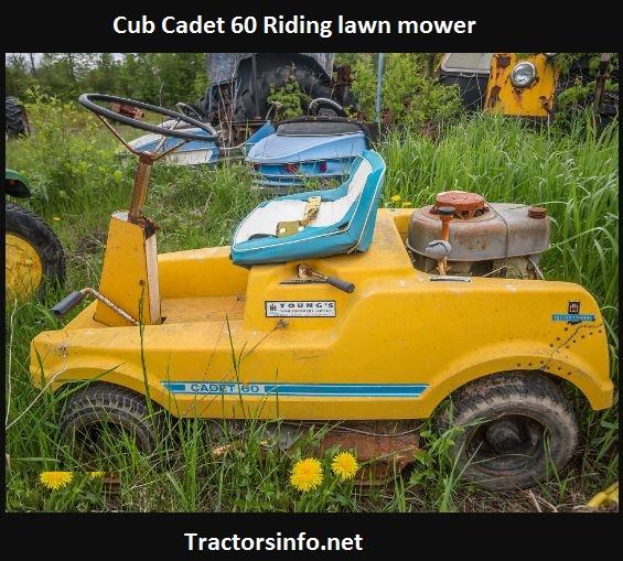 Cub Cadet 60 Riding Lawn Mower Price, Specs, Attachments