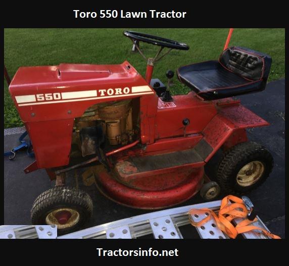 Toro 550 Lawn Tractor Price, Specs, Attchments