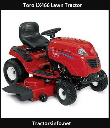 Toro LX466 Lawn Tractor Price, Specs, Review, Attachments