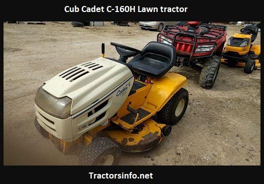 Cub Cadet C-160H Lawn Tractor Price, Specs