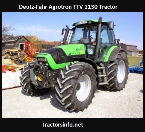 Deutz-Fahr Agrotron TTV 1130 Price, Specs, Review