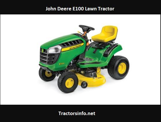 John Deere E100 Price, Specs, Reviews, Attachments