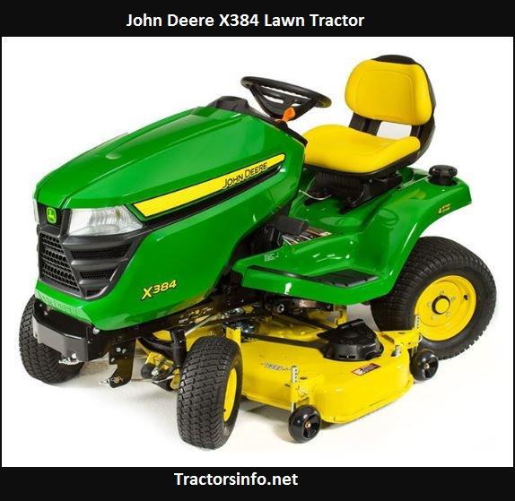 John Deere X384 Specs, HP, Price, Review, Attachments