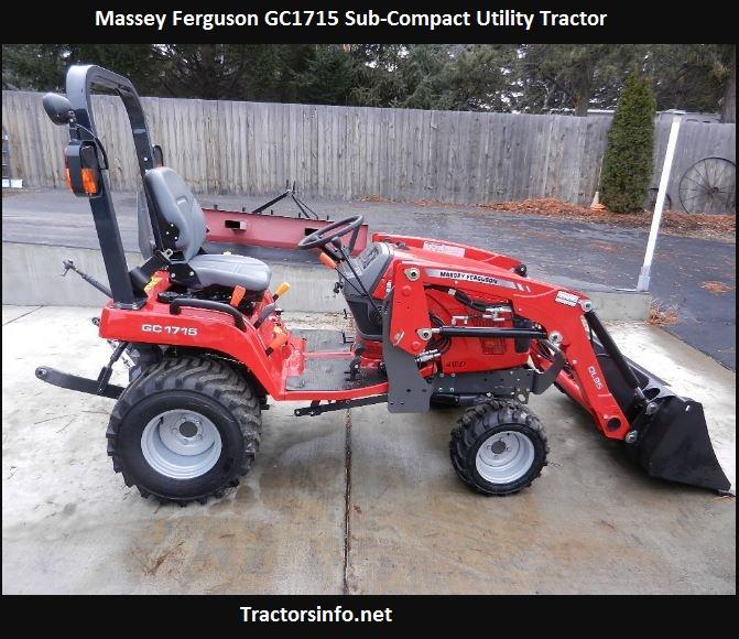 Massey Ferguson GC1715 Specs, Price, Review, Attachments