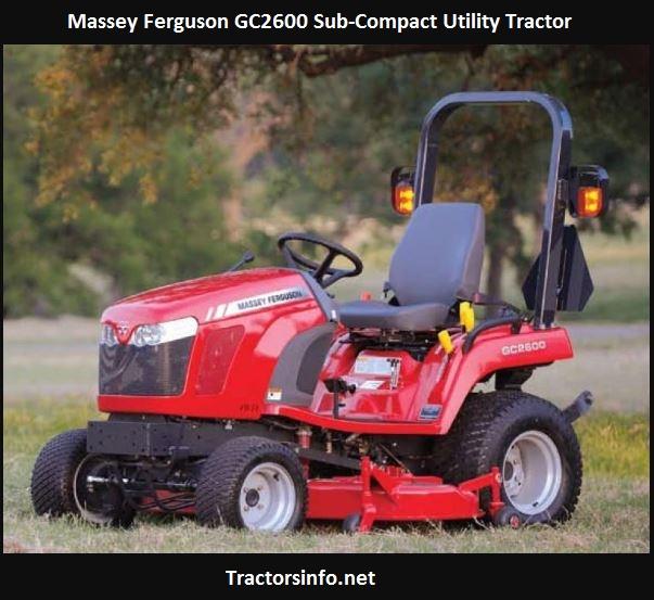 Massey Ferguson GC2600 Price, Specs, Review, Attachments