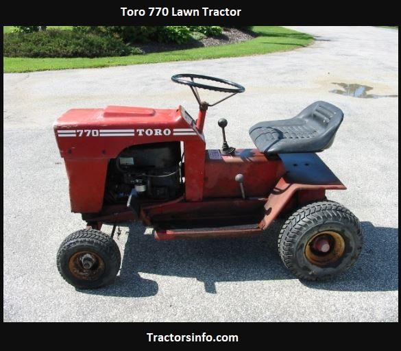 Toro 770 Lawn Tractor Price, Specs, Attachments