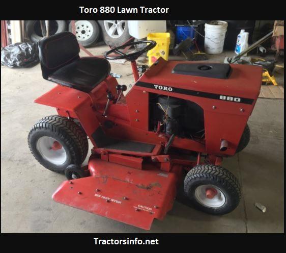 Toro 880 Lawn Tractor Price, Specs, Review, Attachments