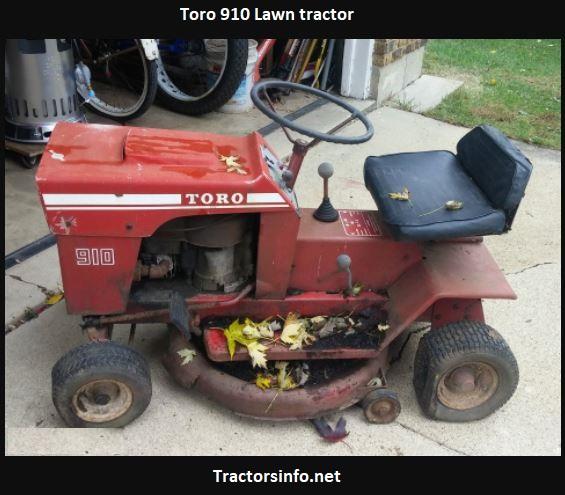 Toro 910 Lawn Tractor Price, Specs, HP, Attachments