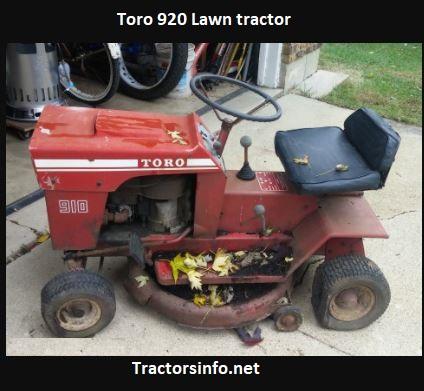 Toro 920 Lawn Tractor Price, Specs, Review, Attachments