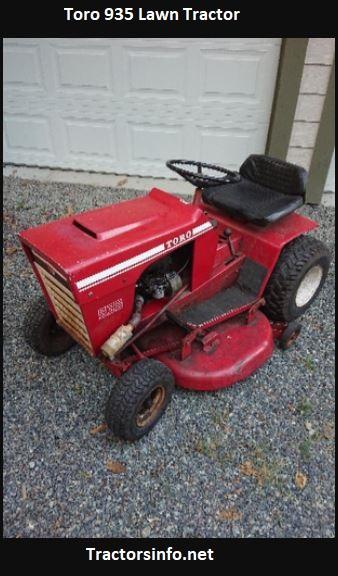 Toro 935 Lawn Tractor Price, Specs, Features