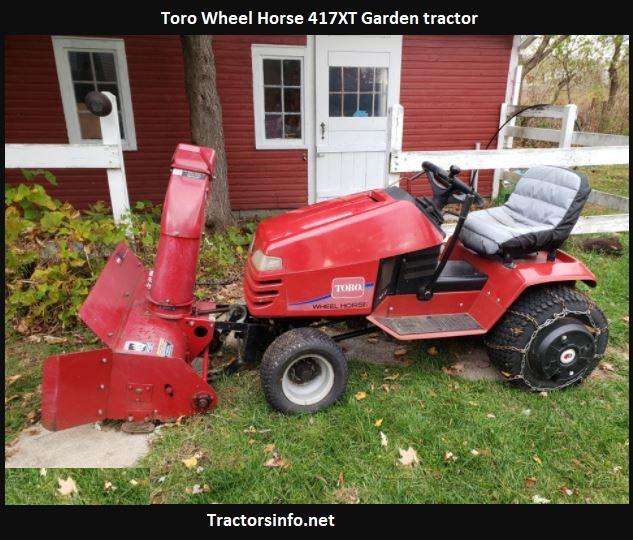 Toro Wheel Horse 417XT Price, Specs, Review, Attachments