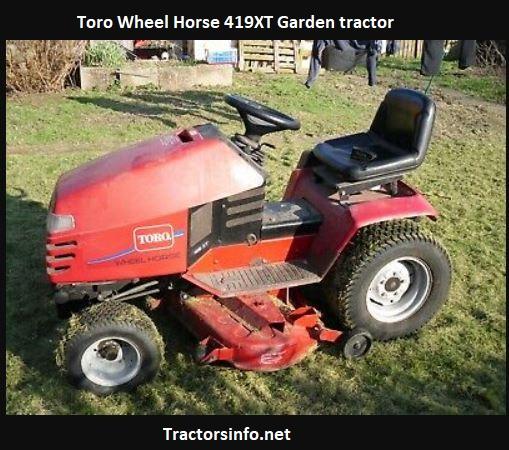 Toro Wheel Horse 419XT Price, Specs, Review, Attachments