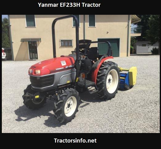 Yanmar EF233H Tractor Price, Specs, Features