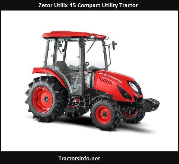 Zetor Utilix 45 Compact Utility Tractor Price, Specs, Review