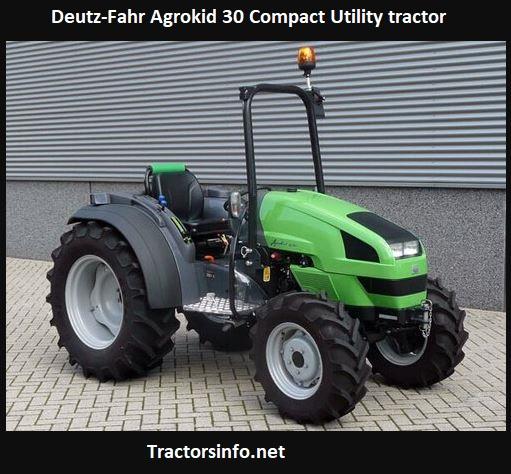 Deutz-Fahr Agrokid 30 Tractor Price, Specs, Review