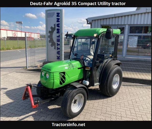 Deutz-Fahr Agrokid 35 Price, Specs, Review