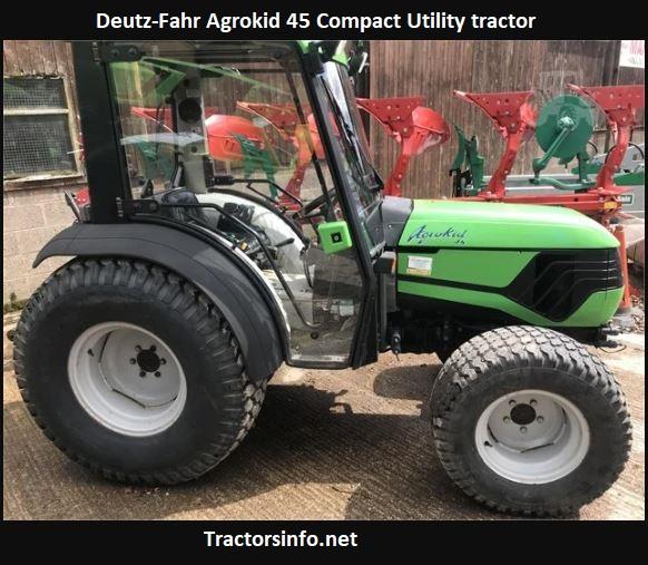 Deutz-Fahr Agrokid 45 Tractor Price, Specs, Review