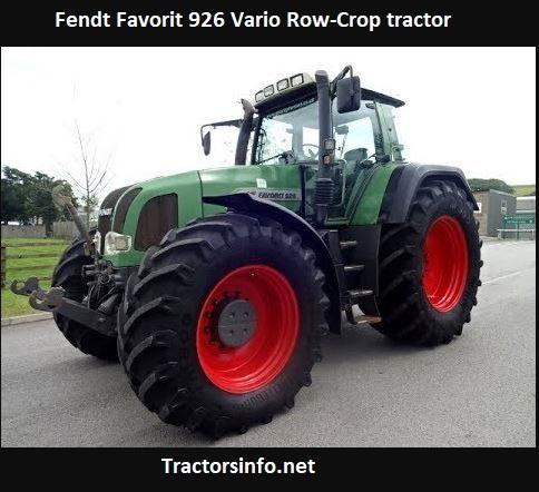 Fendt Favorit 926 Vario Tractor Price, Specs, HP, Review
