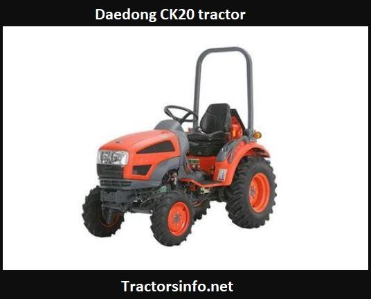 Daedong CK20 Tractor Price, Specs, Features