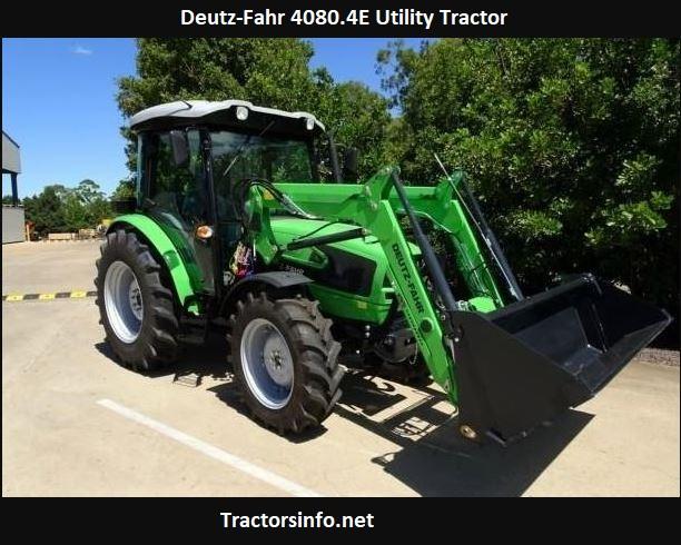 Deutz-Fahr 4080.4E Utility Tractor Price, Specs, Review