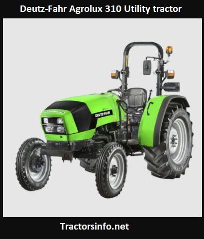 Deutz-Fahr Agrolux 310 Utility Tractor Price, Specs, Review