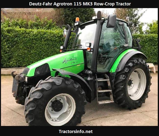 Deutz-Fahr Agrotron 115 MK3 Row-Crop Tractor Price, Specs, Review