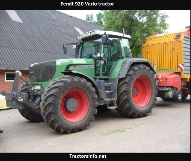 Fendt 920 Vario Tractor Price, Specs, Review
