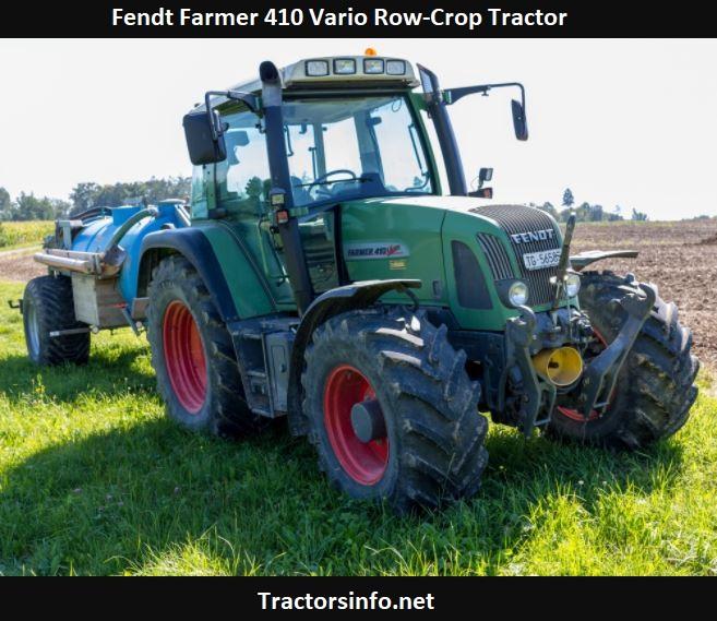 Fendt Farmer 410 Vario Row-Crop Tractor Price, Specs, Review