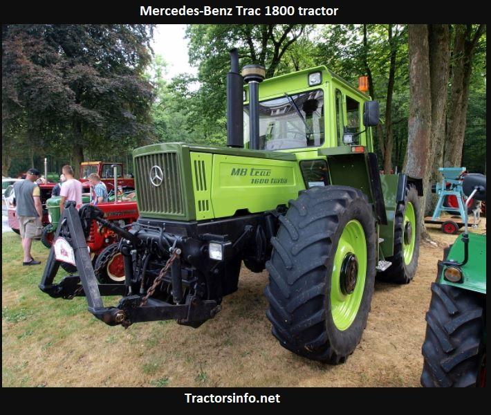 Mercedes-Benz Trac 1800 Tractor Price, Specs, Horsepower