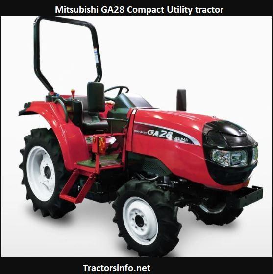 Mitsubishi GA28 Tractor Price, Specs, Review