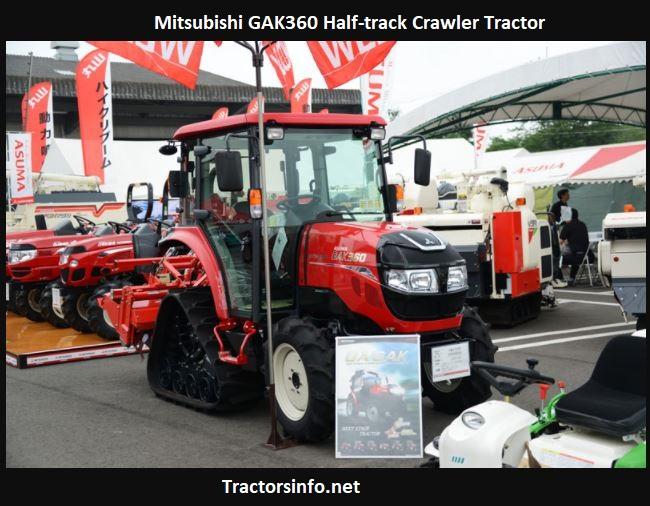 Mitsubishi GAK360 Half-track Crawler Tractor Price, Specs, Review