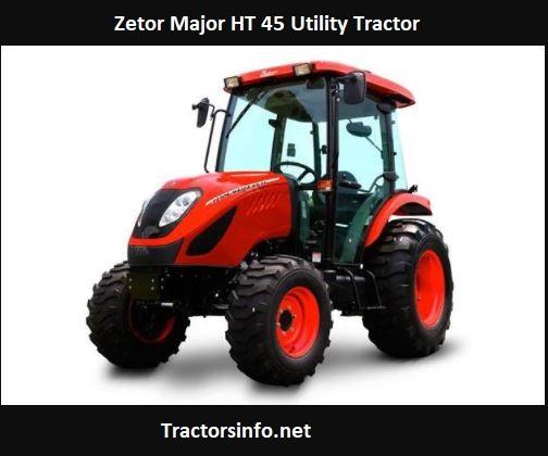 Zetor Major HT 45 Utility Tractor Price, Specs, Review